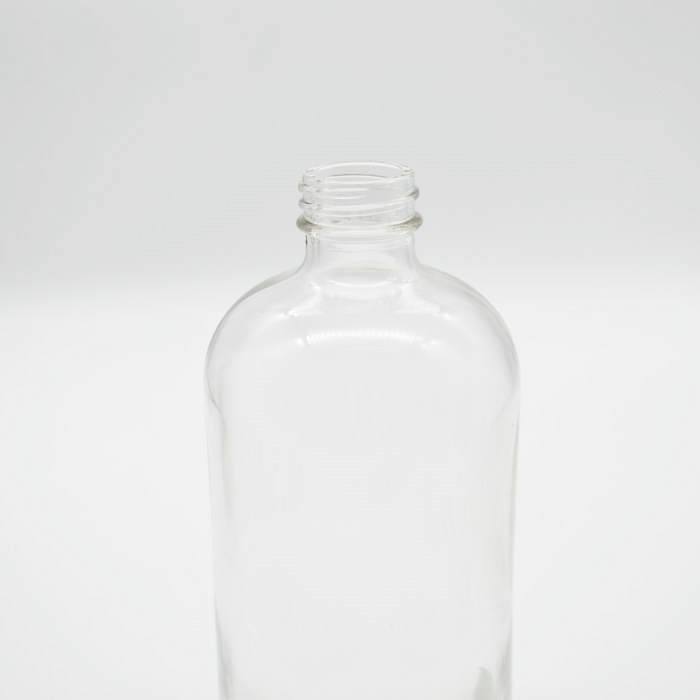 Wholesale 16 oz ounces cylinder empty beverage clear glass bottles