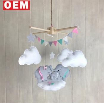 Custom Design Elephant Cloud Mobile Star Crib Nursery Decor For Baby