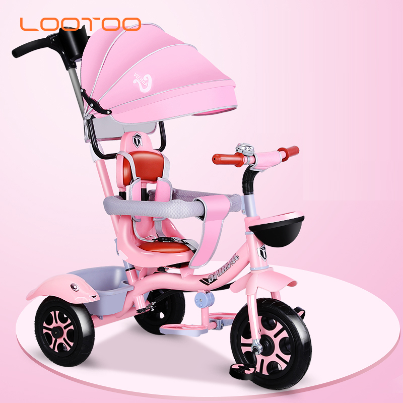 China cheap price 3 wheel girl push trike / tricycle for infants / children push tricycle