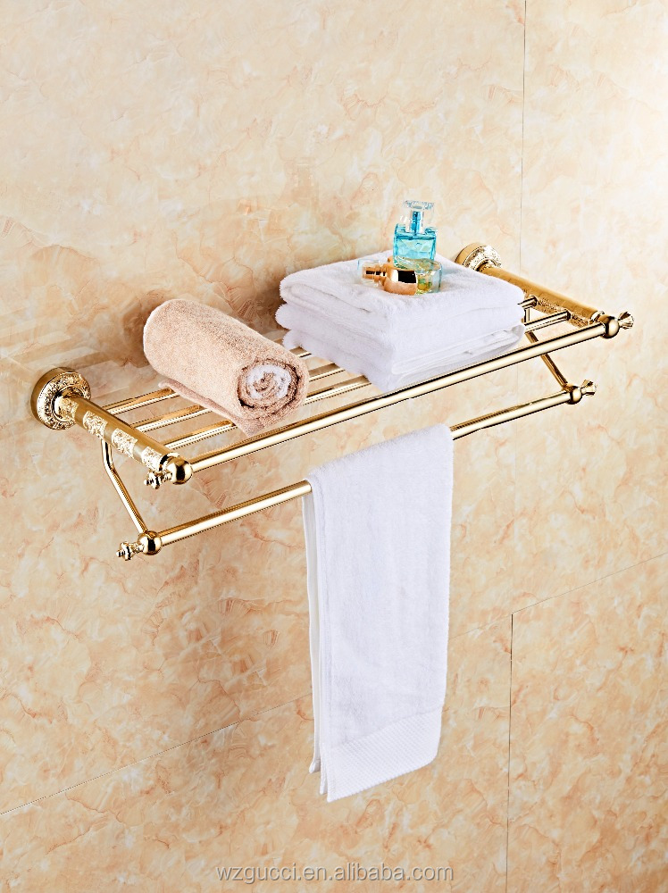 Wenzhou Brass Gold Plated Bathroom Products 6PCS Bath Hardware Sets