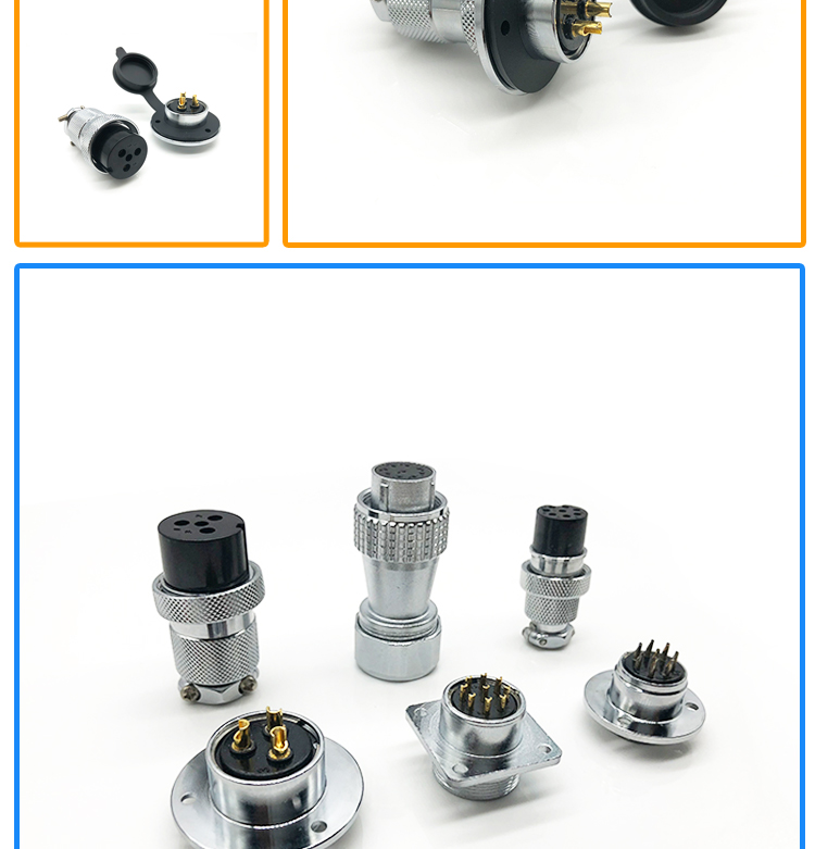GX18 4 pin mic aviation round metal waterproof connector