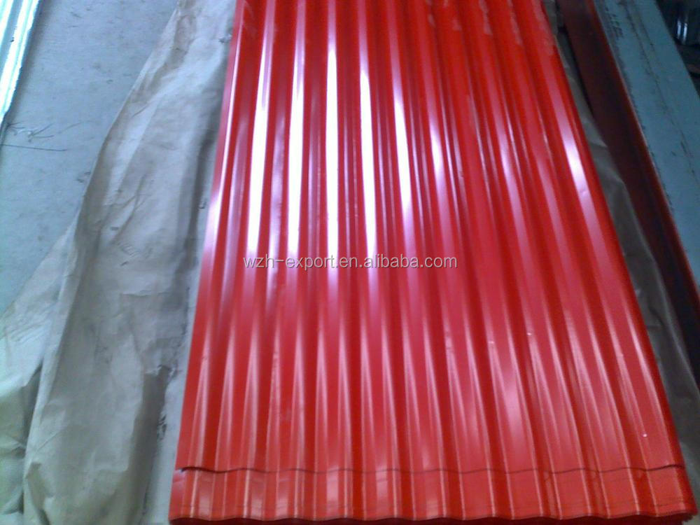 Cheap Price Roofing Materials Prepainted Corrugated Metal Steel Roofing  Sheet For Poultry Houses