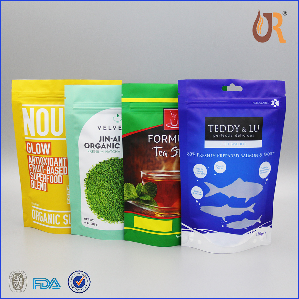 2016 New Products 250g Stand Up Pouches With Zipper For Food Packaging