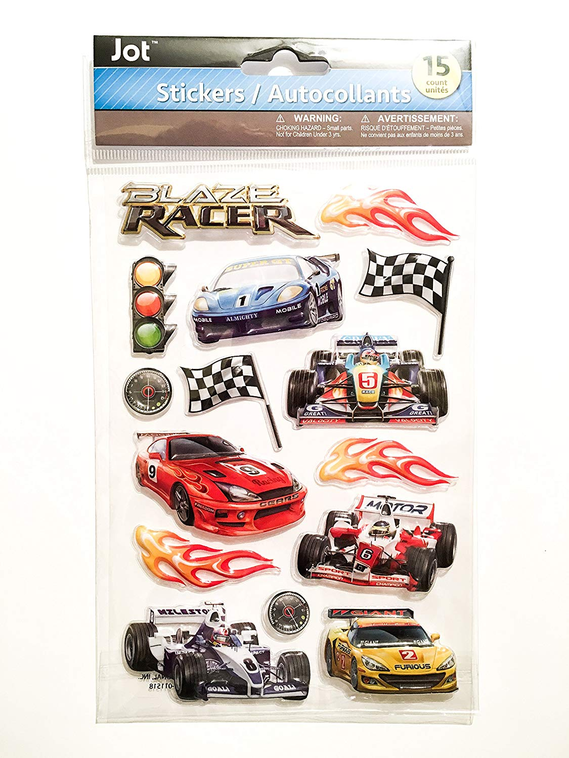 Racing stickers race car stickers racing pop up stickers race track themed stickers