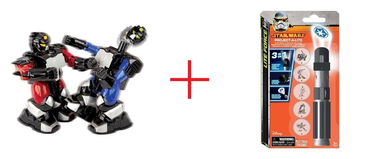 Sharper Image Remote Control Boxing Robots and Project a Lite Star Wars - Bundle