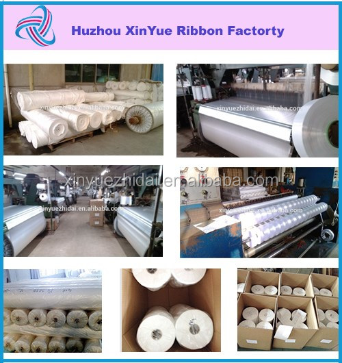 polyester label roll woven satin ribbon