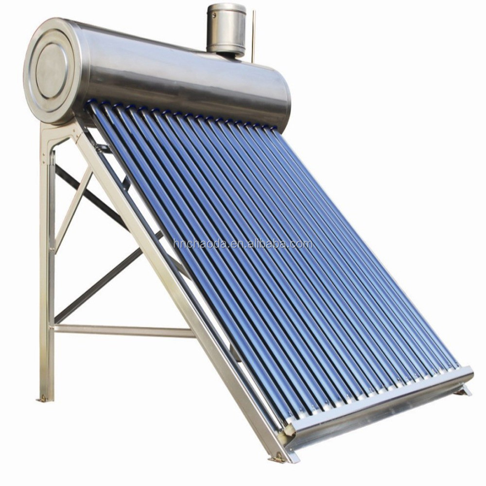 Compact Non Pressurized Solar Water Heater Evacuated Tube