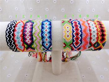 beaf6cc8926c Pulsera de la Amistad 1-15 encanto hecho a mano cuerda tejida hippy Boho  bordado