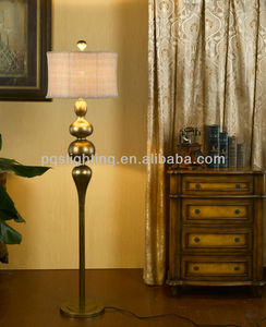 golden elegant polyresin india floor lamp
