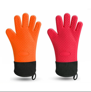 Food Grade Non-stick Silicone Heat Resistant BBQ Grill Gloves