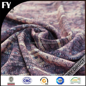 Custom digital print polyester designer fabric online