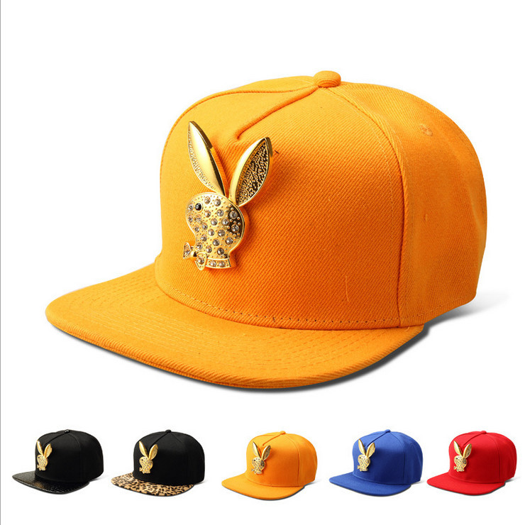 Get Quotations · Free shipping 2014 wholesale hip hop hat rabbit logo  cotton fabric snapback baseball cap for unisex 8c0be24ce110