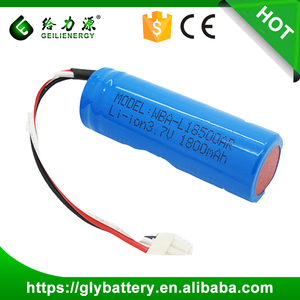 Hot sell 3.7v 1500mah rechargeable li-ion battery aw 18500