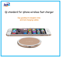 2017 oem Qi standard for iphone wireless fast charger ,mobile phone accessories