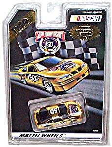 Tyco - Electric Racing - Mattel Wheels - NASCAR/50th Anniversary - Electric Race Car (Metallic Gold) - Limited Collector's Edition (1 of 10,000)