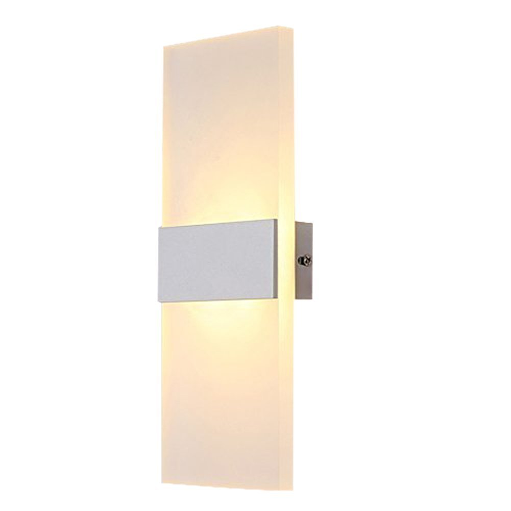 Deccoroom 6W Warm White LED Wall Light, Modern Acrylic Wall Lamp Led Wall Sconce Lights Perfect for Living Room Lights Bedroom Lamps Corridor Wall Lighting LED Night Light