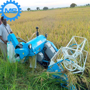 crawler mechanical rice harvesters