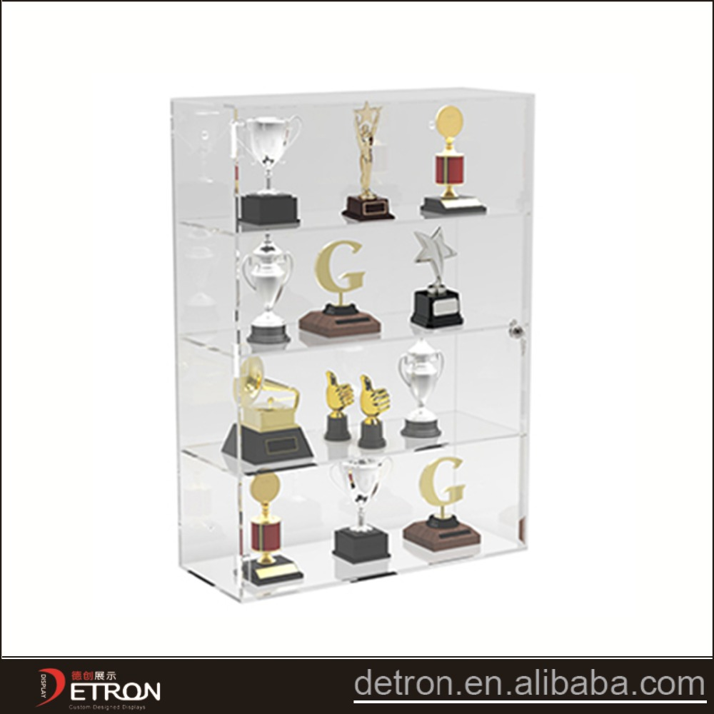 Acrylic trophy cabinet trophy wall mount display cabinet