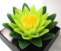 handmade flower candles 5 inch art spa deco - LOTUS water lily