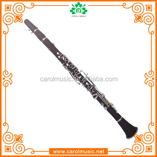 Popular black color wood G key clarinet