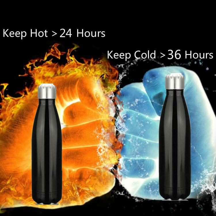 無料サンプル 500 ミリリットル SS 弾丸二重壁魔法瓶絶縁ステンレス鋼真空水ボトルタンブラーフラスコ