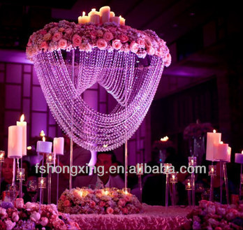 Latest Crystal Wedding Centerpieces Flower Stand Decoration Table Centerpiece