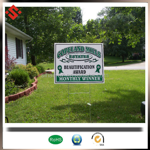 H Stake Plastic Sign Corrugated Plastic Sign Holder - Buy Plastic ...