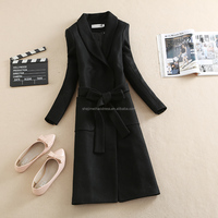 China factory New Italy Fashion High Quality Full Length Fitted stock Women Cashmere Wool Coat/ladies Casual Woolen Coat