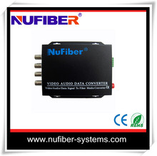 Nice price 4 channel RS485 Date fiber optical video converter