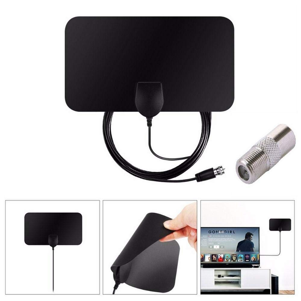 Leegoal HDTV Antenna, 20dBi Digital DVB-T/FM Freeview Aerial Antenna PC for TV HDTV, Portable Indoor TV Antenna with Long 50 Miles Range