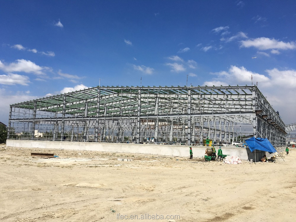low price galvanized steel structure prefabricated warehouse with 50 years frame using life