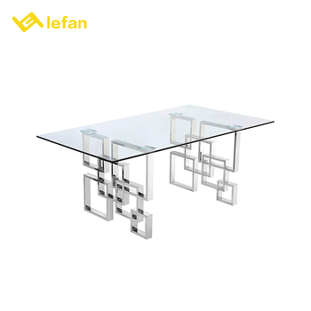 Stainless Steel European Formal French Furniture Dining Table Set