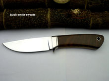 Custom hand made high carbon spring steel knife with sheaths