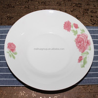 white porcelain ceramic dinnerware soup plate