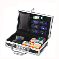 coded lock Protective Packing Carrying Aluminum Case with velvet