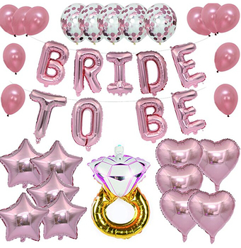 3af535488be Hottest Amazon Party Accessories Kit Bachelorette Party Supplies Bride To  Be Rose Gold Bridal Shower Decorations