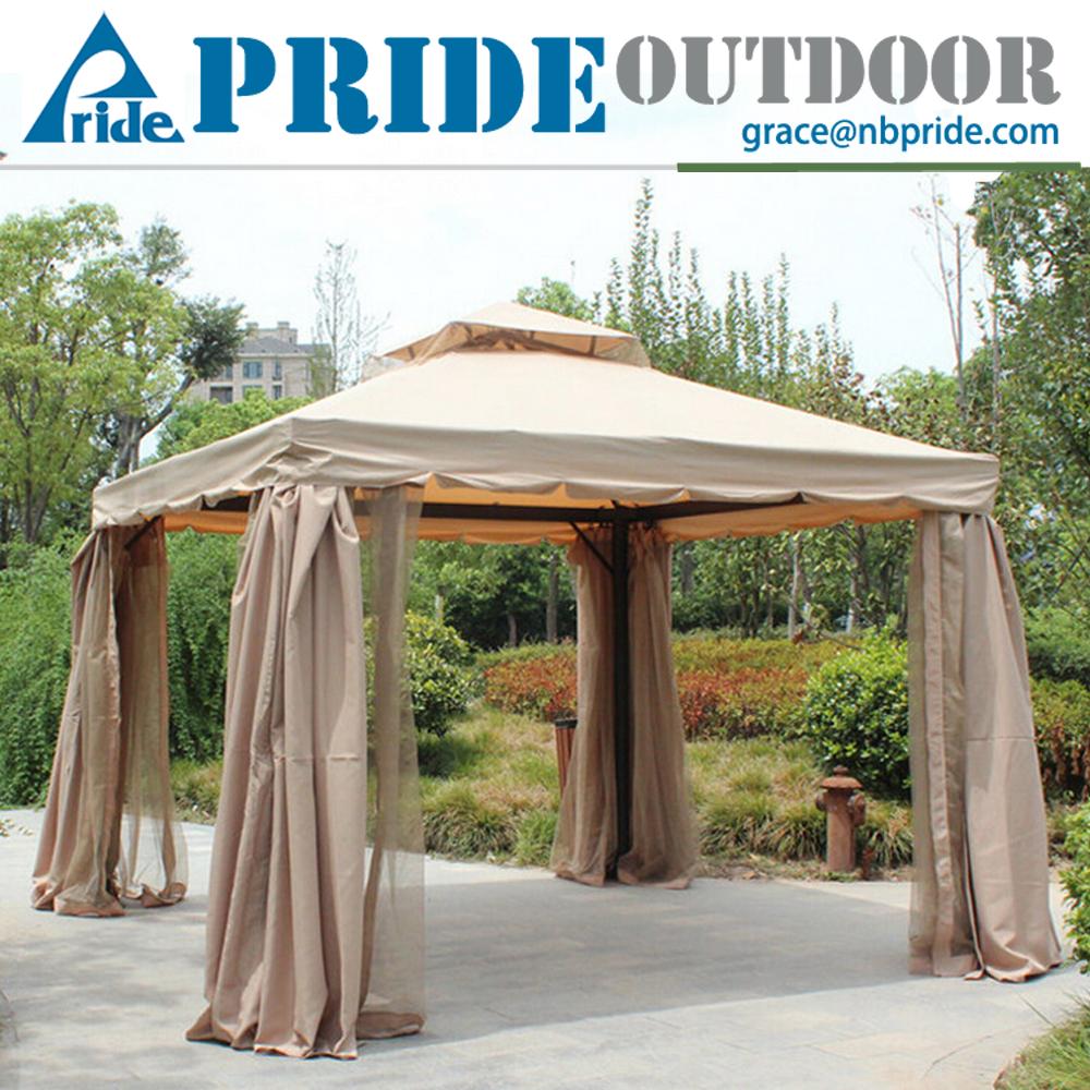 terrasse pavillon garten baldachin mit moskitonetz 4x4 luxus aluminium pavillon. Black Bedroom Furniture Sets. Home Design Ideas
