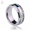 New Rotating GearTungsten Ring, Mother Laser Engraving Pearl Inlay Tungsten Ring