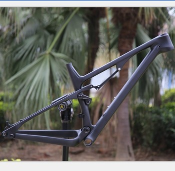 2019 superlight full suspension carbon mountain bike frame with bottom bracket