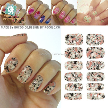 K5736 manicure tools water transfer nail foil sticker art sexy light black rose marble stone