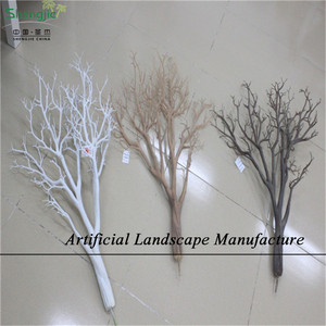 SJZDT03 Artificial dry tree for decoration , Artificial Tree Trunk with different color and size