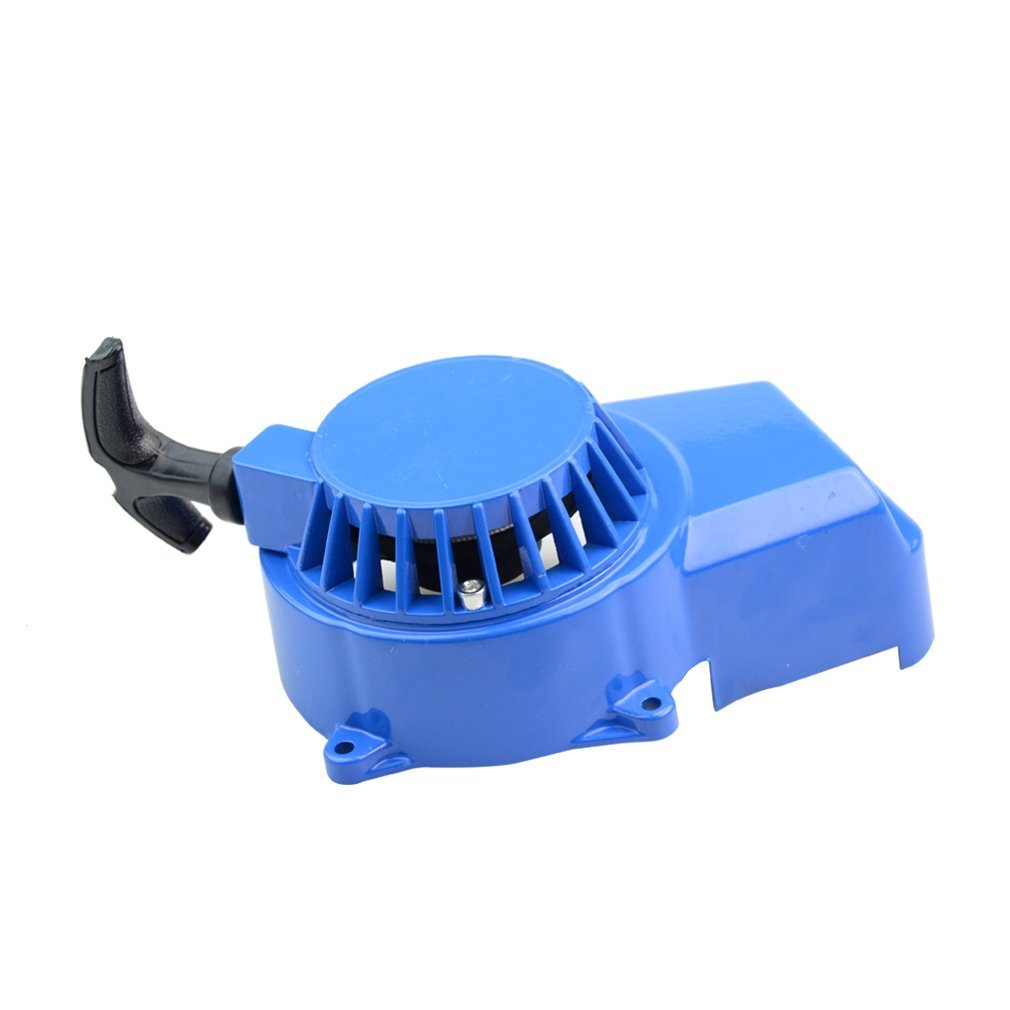 GOOFIT Blue Aluminum Pull Starter Start for 2 Stroke 47cc 49cc Pocket Bike Mini Bike Dirt Bike