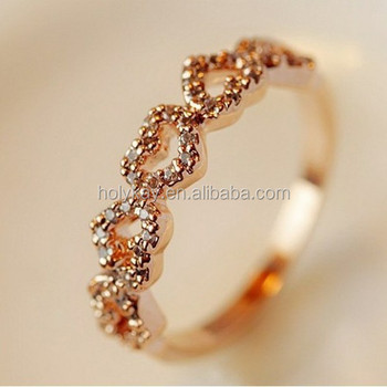 Romantic Heart Shaped Ring Designs Lovely Crystal Engagement Rings