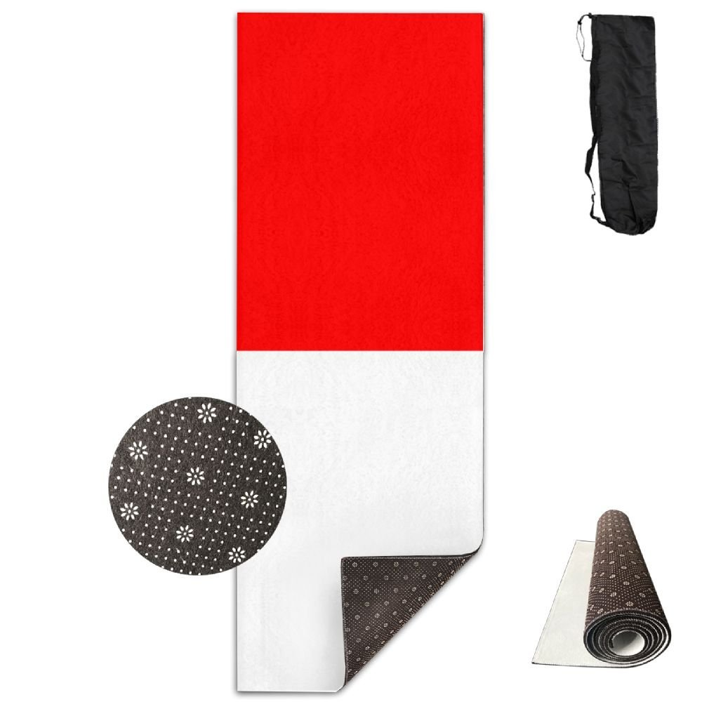 6429be9efdf Get Quotations · Fitness All Over Printed Yoga Mat Fashion Flag Of Indonesia  Non Slip Eco-friendly Anti