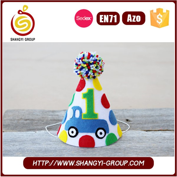Funny kids birthday party hat decoration, kids birthday party ideas