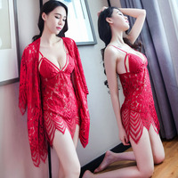 Elegant design colorful two piece of sexy night women see through wholesale sexy lingerie