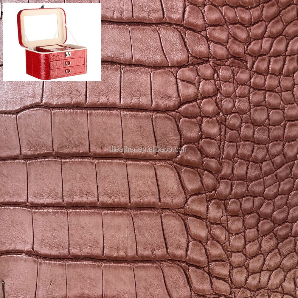 Synthetic Crocodile PU Leather for Making Bags Handbags Wallets Contain Box