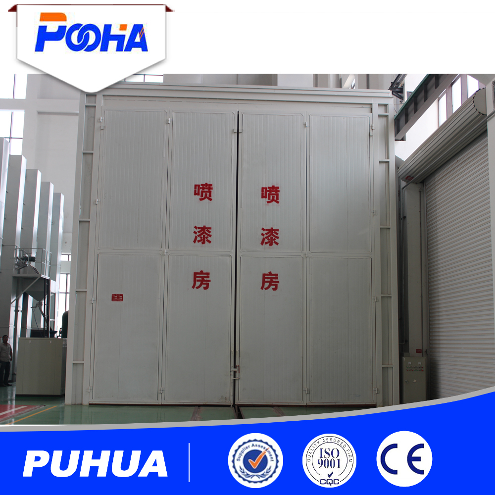 Pneumatic recovery shot blasting room for rust paint remove