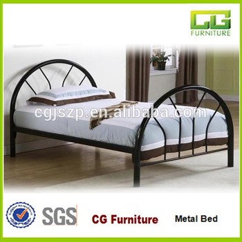 Top Selling America Simple Design Cheap Black Metal Tube Twin Bed Frame Only