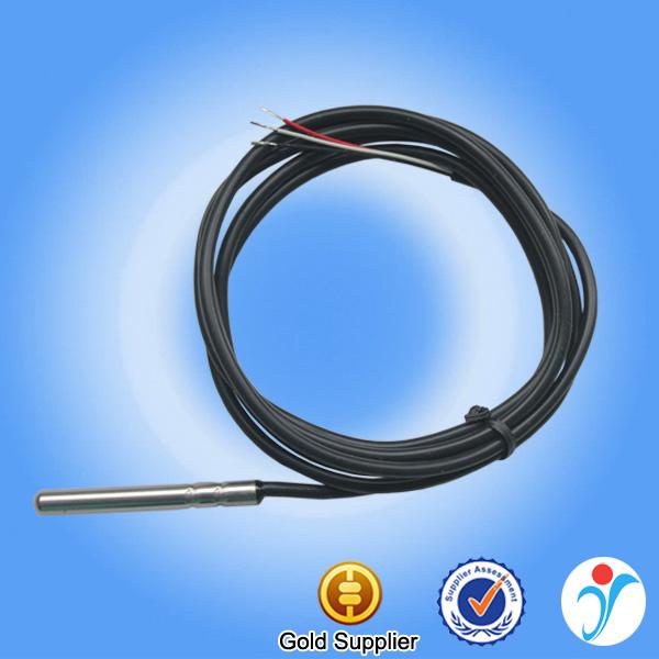 Pt100 sensore di temperatura Sensore di temperatura sensore 3 METRI in SILICONE 200 ° C PT 100